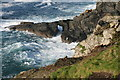 SW3634 : Natural rock arch at Stamps An Jowl Zawn by Elizabeth Scott