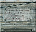 SE0326 : Plaque on the former co-op. shop, Midgley by Humphrey Bolton
