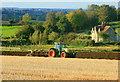 ST6665 : 2008 : Ploughing near Burnett by Maurice Pullin