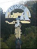 TQ7570 : Upnor Village Sign by David Anstiss