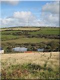 SW6738 : Pond on Bolenowe Moor by Rod Allday