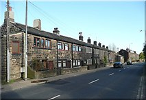 SE0026 : Terrace houses, Burnley Road A646, Mytholmroyd by Humphrey Bolton