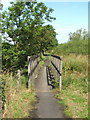 NS3976 : Footbridge on Cycle Route 7 by Lairich Rig