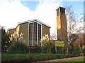 TQ2466 : Emmanuel church, Morden - East end by Stephen Craven