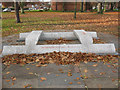 SJ4912 : Symmetry: Wilfred Owen memorial by Stephen Craven