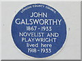 Photo of John Galsworthy blue plaque
