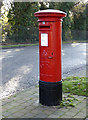 Dist:0.3km<br/>George V pillar box not far from Old Park Grove. [[[1074875]]]