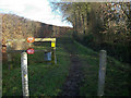 TL6657 : Bridleway through stud farm by Hugh Venables