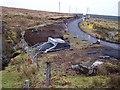 NG3243 : Bridge works in Balmeanach by Richard Dorrell