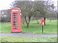 TM3674 : Walpole  Telephone Box & Walpole Green Postbox by Adrian Cable