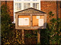 TM2669 : Brundish Village Hall notice board by Adrian Cable