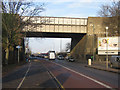 TQ4768 : Railway Bridge over Cray Avenue by Ian Capper