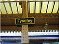 SP1184 : Sign at Tyseley Railway station by James Haynes