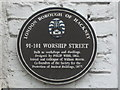 Photo of Philip Webb brown plaque