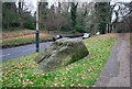 TQ5639 : Rock by the side of the road, Langton Rd, Rusthall Common by Nigel Chadwick