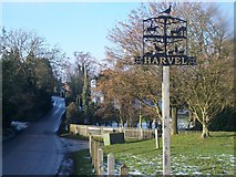 TQ6563 : Harvel Village Sign by David Anstiss