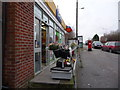 SY9893 : Upton: post office and postbox № BH16 36, Poole Road by Chris Downer