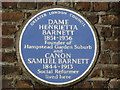 Photo of Henrietta Barnett and Samuel Barnett blue plaque