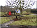 TM2147 : Playford Village Sign, Notice Board &amp; The Street Postbox by Adrian Cable