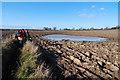 SJ5675 : Walking past the wet bit by Dave Croker