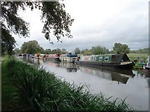 SU6871 : Canal boats moored near Southcote by Simon Mortimer