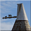 TQ8115 : Cowl of Fuggles Oast, Main Road, Westfield, East Sussex by Oast House Archive