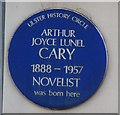 Photo of Arthur Joyce Lunel Cary blue plaque