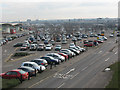TQ3978 : Shoppers car park, East Greenwich Millennium Leisure Park by Stephen Craven