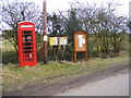 TM3577 : Telephone Box &amp; Notice Board, Chediston by Adrian Cable