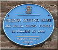 Photo of Friends Meeting House, Ross-on-Wye blue plaque