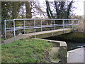 TM3258 : Footbridge over the river, Ford Road, Marlesford by Adrian Cable