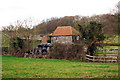 TQ8748 : Unconverted Oast House at Marchant Farm, Lenham Road, Grafty Green, Kent by Oast House Archive