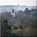 TM0534 : Stratford St Mary church, seen from East Bergholt by Zorba the Geek