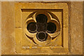 TQ4156 : Quatrefoil window, St Mary's, Tatsfield by Ian Capper