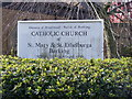 TQ4484 : St.Mary &amp; St.Ethelburga Catholic Church Sign,  Barking by Adrian Cable