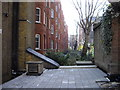 TQ2578 : Gardens at rear of Kensington Mansions by PAUL FARMER