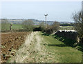 ST6864 : 2009 : Ploughed field and footpath near Corston Field by Maurice Pullin