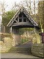 SD7409 : St James' Church, Breightmet, Lychgate by Alexander P Kapp