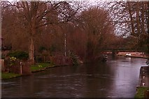 SU5766 : River Kennet at Woolhampton by Graham Horn