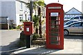 SW7939 : Telephone and post boxes in Devoran by John Gibson