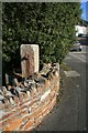 SW7939 : Old level crossing gatepost at Devoran by John Gibson