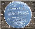 Photo of Monnow Bridge blue plaque