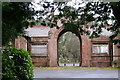 SP0382 : Lodge Hill Cemetery, entrance and mortuary chapels by Robin Stott