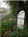 ST6952 : Kilmersdon, milepost by Mike Faherty