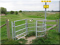 TR0363 : Kissing Gate on Saxon Shore Way near Nagden Cottages by David Anstiss