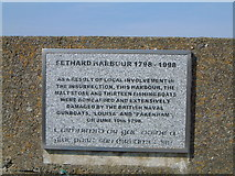 S8005 : Sign at Fethard Harbour by Peter Taylor