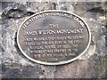 Photo of James Wilson brown plaque