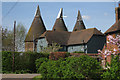TQ7148 : Oast House at Elphicks Farm, Water Lane, Hunton, Kent : Week 16