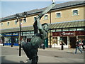 TQ8109 : Statue of Cricketer in Hastings town centre by Paul Gillett