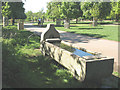 TQ1971 : 'Metropolitan' drinking trough in Richmond Park by Stephen Craven